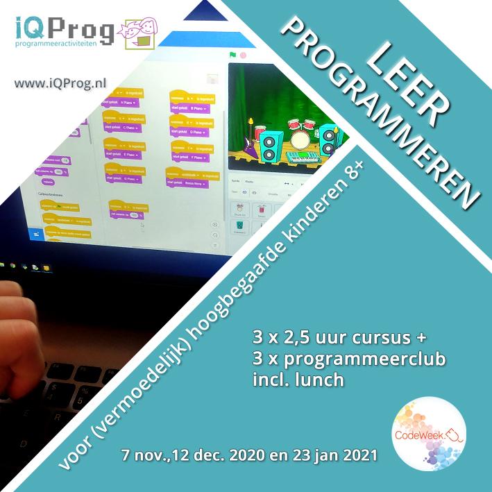 Programmeercursus voor (vermoedelijk) hoogbegaafde kinderen